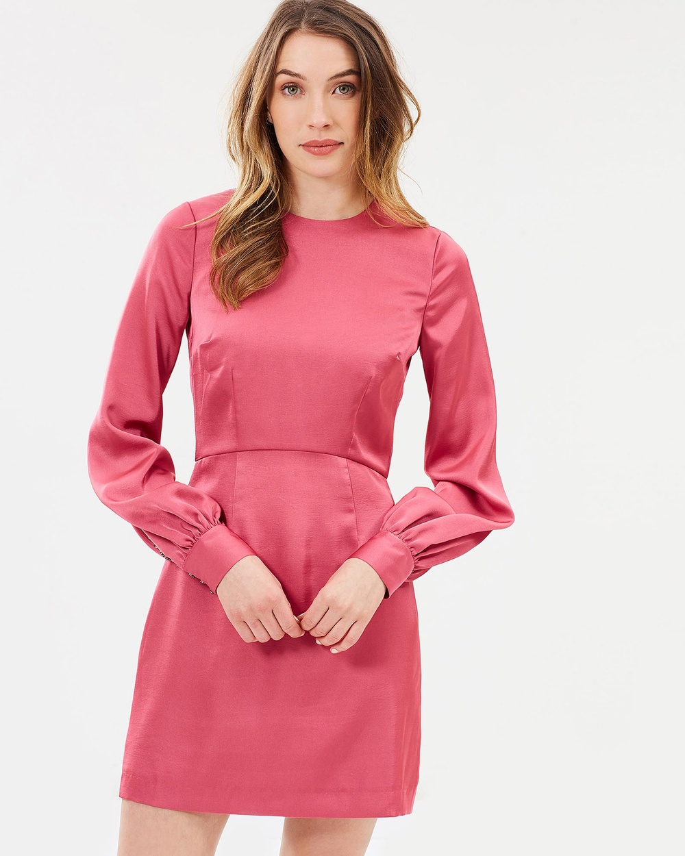 Cooper St Stella Long Sleeve Mini Dress Dresses Deep Rose Stella Long Sleeve Mini Dress