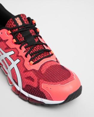ASICS GEL Quantum 360 6   Men's - Lifestyle Sneakers (Sunrise Red & White)