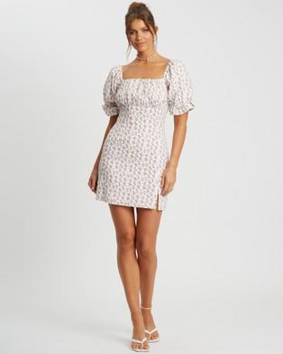 Savel Moriah Mini Dress - Dresses (White Speckle Floral)