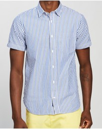 Scotch & Soda - Regular Fit Structured Broadcloth Shortsleeve Shirt