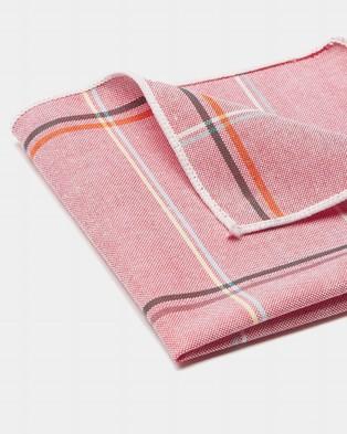Buckle Plaid Pocket Square - Pocket Squares (Pink)