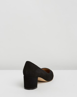 Atmos&Here Marli Leather Heels - All Pumps (Black Suede)