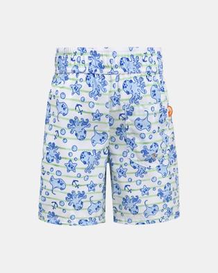 Escargot Sea Creatures Board Shorts - Swimwear (Blue)