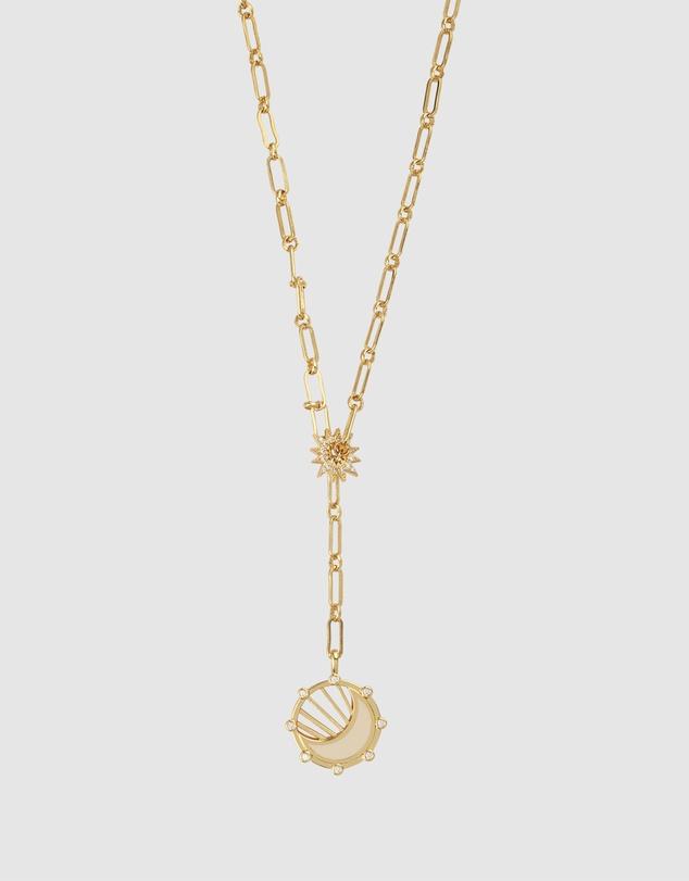 Women Moonbeam Gold Necklace
