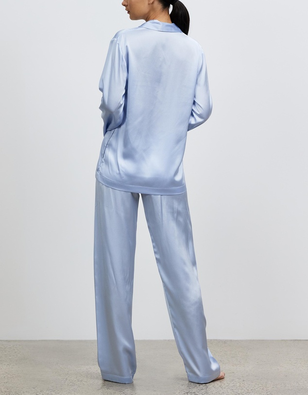 Women Silk Long Pyjama Set