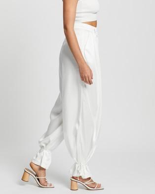 Glamorous Wide Leg Trousers - Pants (White)