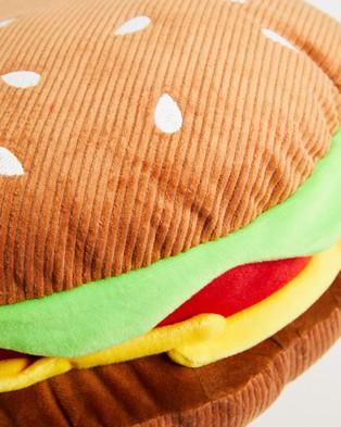 Typo Corduroy Get Cushy Cushion - Novelty Gifts (Corduroy Hamburger)