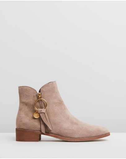 See By Chloé - Ring Zip Pull Flat Boots