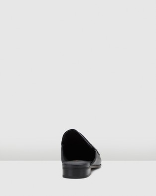 Clarks - Pure Mule Heels (Black Leather)