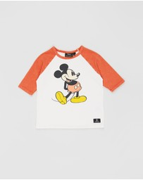 Rock Your Kid - 80s Mickey 3/4 Sleeve T-Shirt - Kids