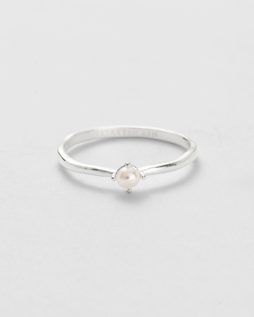 Kirstin Ash Moon Tide Pearl Ring Jewellery Silver