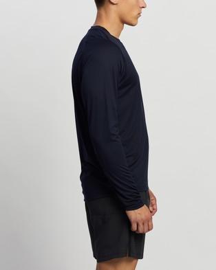 adidas Performance - FreeLift Solid Badge of Sport Tee Long Sleeve T-Shirts (Legend Ink)