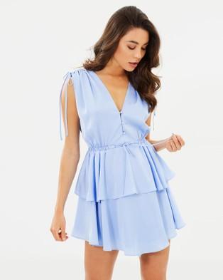 Shona Joy – Calypso Ruched Peplum Mini Dress