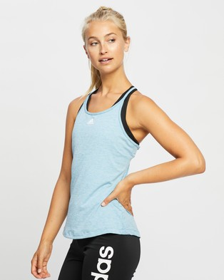 adidas Performance Performance Tank Top - Muscle Tops (Hazy Blue Mel & White)