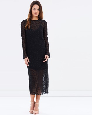 Bec & Bridge – Celestial Midi Dress – Dresses (Black)