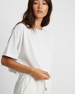 ST MRLO Miami Cropped Tee - T-Shirts & Singlets (Grey Marle)