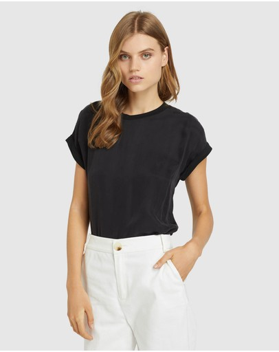 Oxford - Liza Woven Front T-shirt