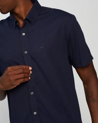 Marcs Troy Pima Jersey Shirt - Casual shirts (NAVY)