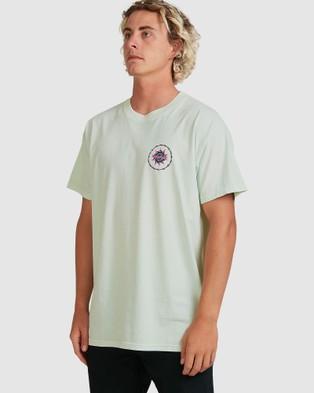 Billabong - Holey Moley Short Sleeve Tee - T-Shirts & Singlets (SEAGLASS) Holey Moley Short Sleeve Tee