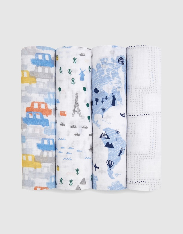 Aden & Anais - Essentials 4-Pack Swaddles