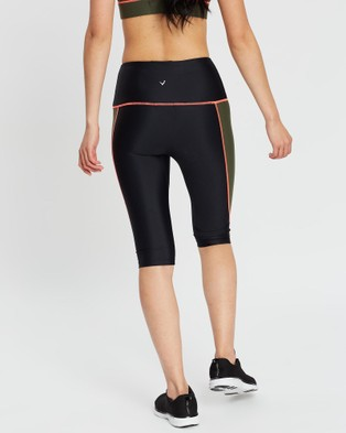 MORE BODY Sergeant Olive Pedal Pusher Shorts - 1/2 Tights (Black & Olive)