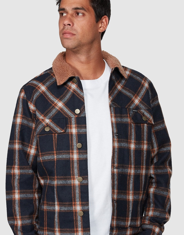 RVCA - Daggers Plaid Sherpa Jacket