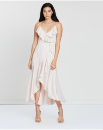 Shona Joy - Luxe Bias Frill Wrap Dress