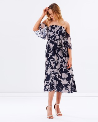 Talulah – Orchard Off the Shoulder Maxi Dress – Dresses (Odessa Print)