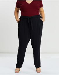 EVANS - Tie Front Tapered Trousers