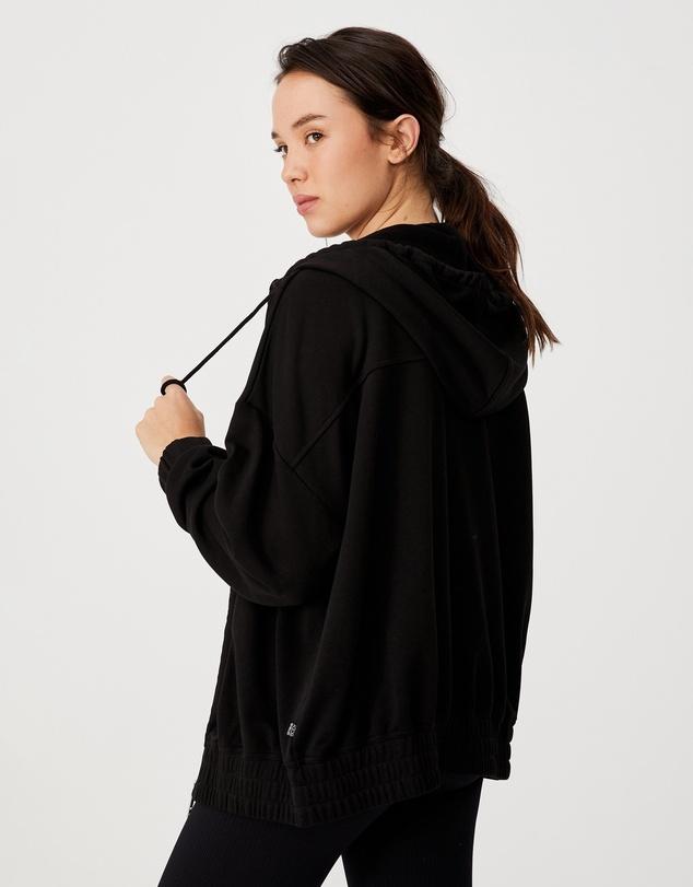 Women Panelled Zip-Through Hoodie