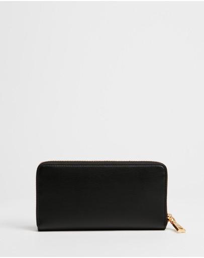 Love Moschino Continental Logo Wallet Black