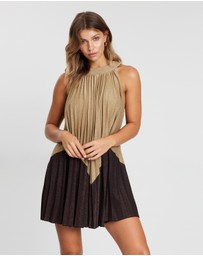 Free People - Pleated Love Mini Dress