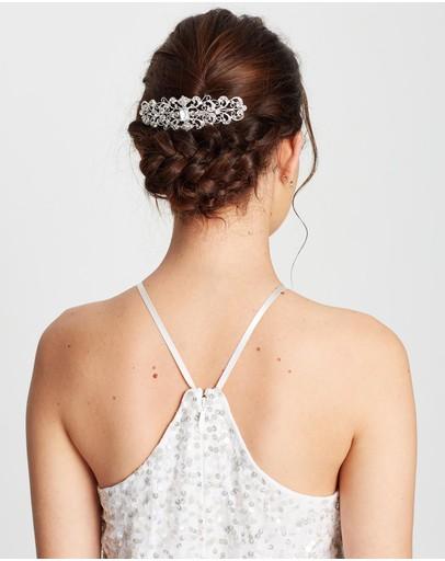 Ivory Knot Yasmin Hair Comb Silver