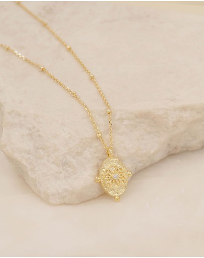 By Charlotte - Path of Life Gold Pendant Necklace