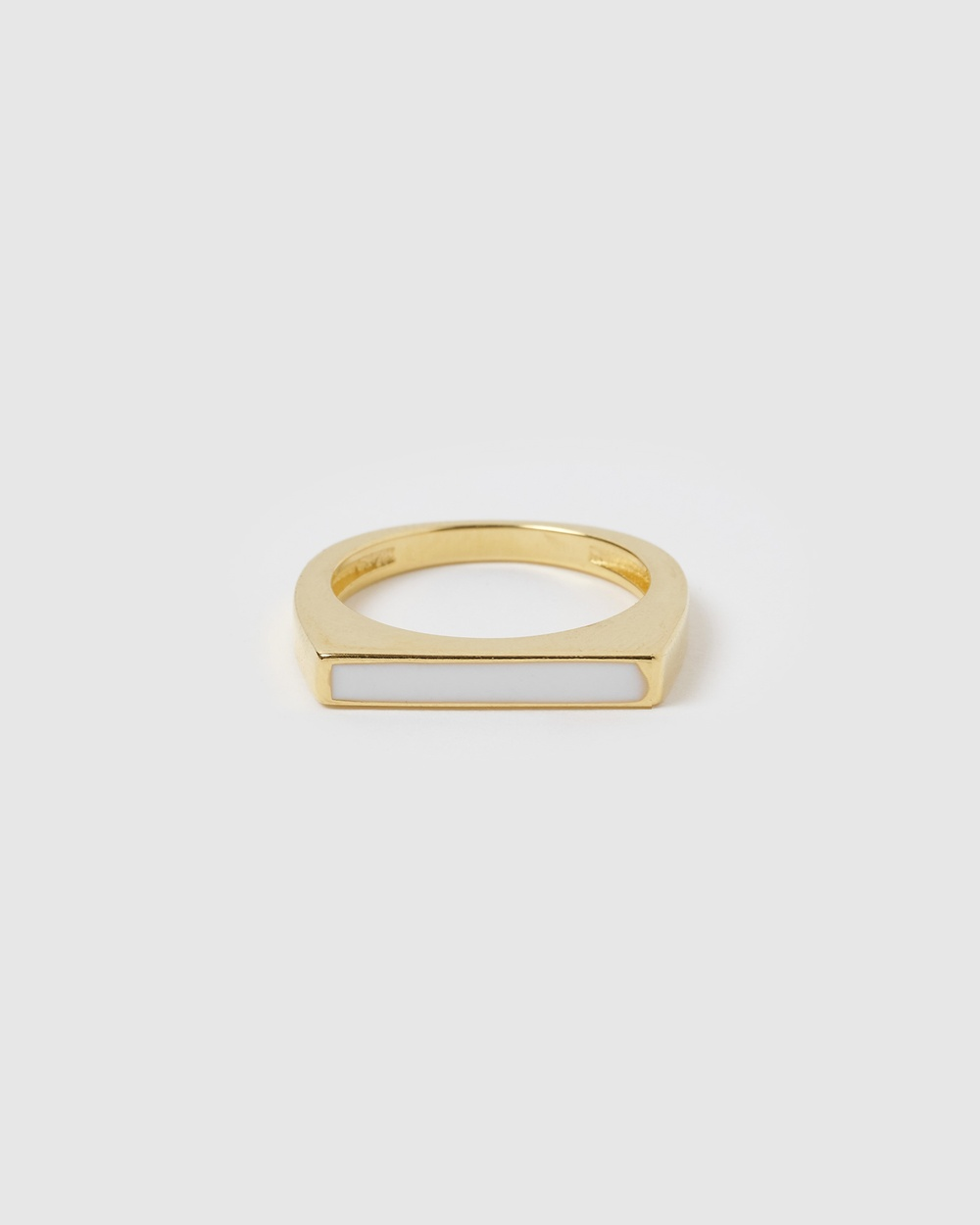 Arms Of Eve Anillo Gold & Enamel Stacking Ring Jewellery Gold