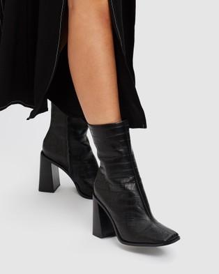 Siren Belmar Boots Black Croc