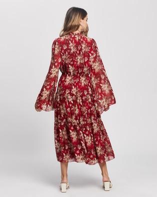 Missguided Petite Petite Keyhole Frill Sleeve Maxi Dress - Dresses (Red)
