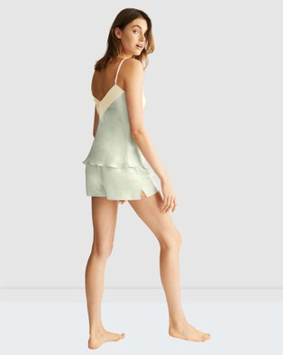 GINIA Contrast Wide Band Cami - Sleepwear (Mint)
