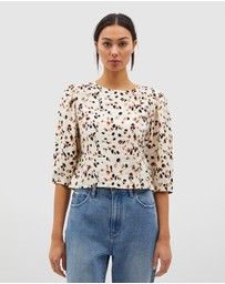 MINKPINK - Lyra Puff Sleeve Top