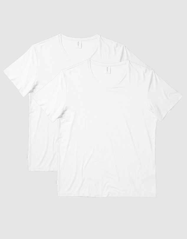 Boody Organic Bamboo Eco Wear - 2 Pack V-Neck T-Shirt
