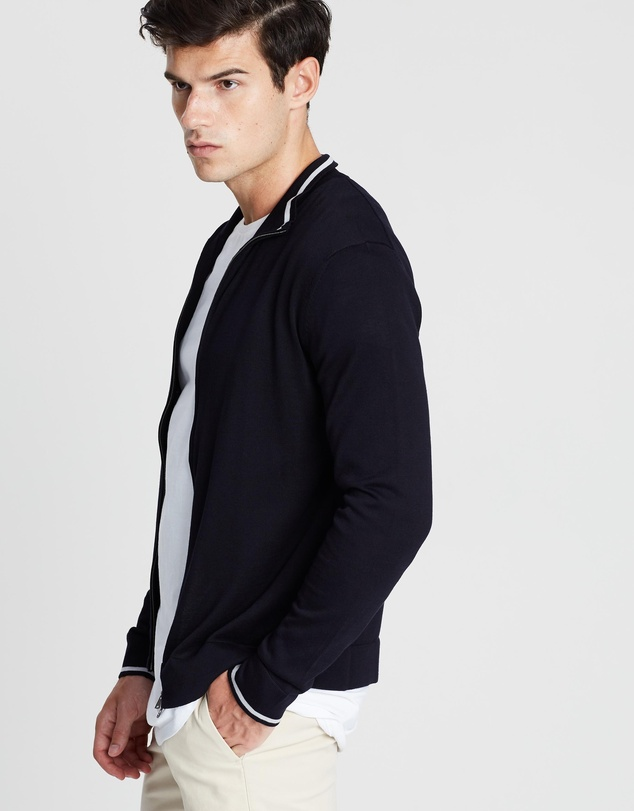 Hackett - Tubular Full Zip Knit