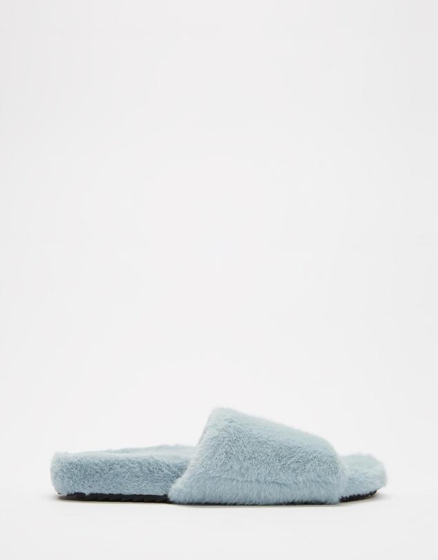 Women Fluffy Slider Slippers