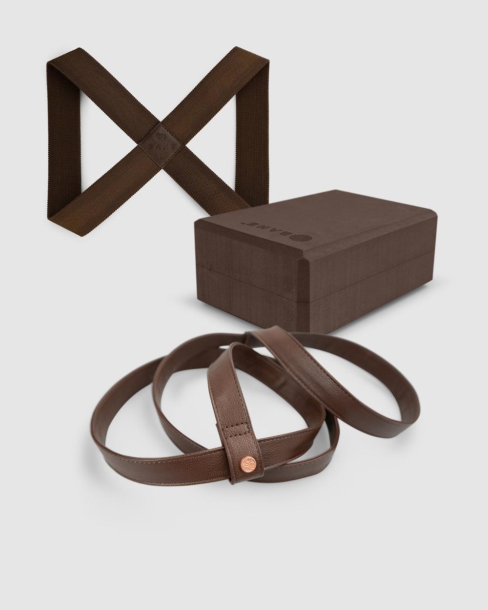 BAHE Accessories Bundle VI Yoga Loop Medium + Block Mat Harness Gym & MULTI