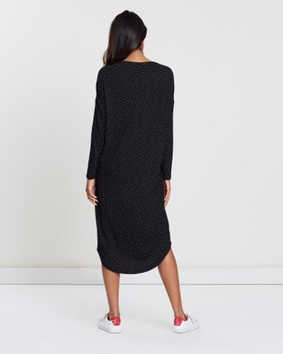 Privilege Inset Panel Dress - Dresses (Dots)