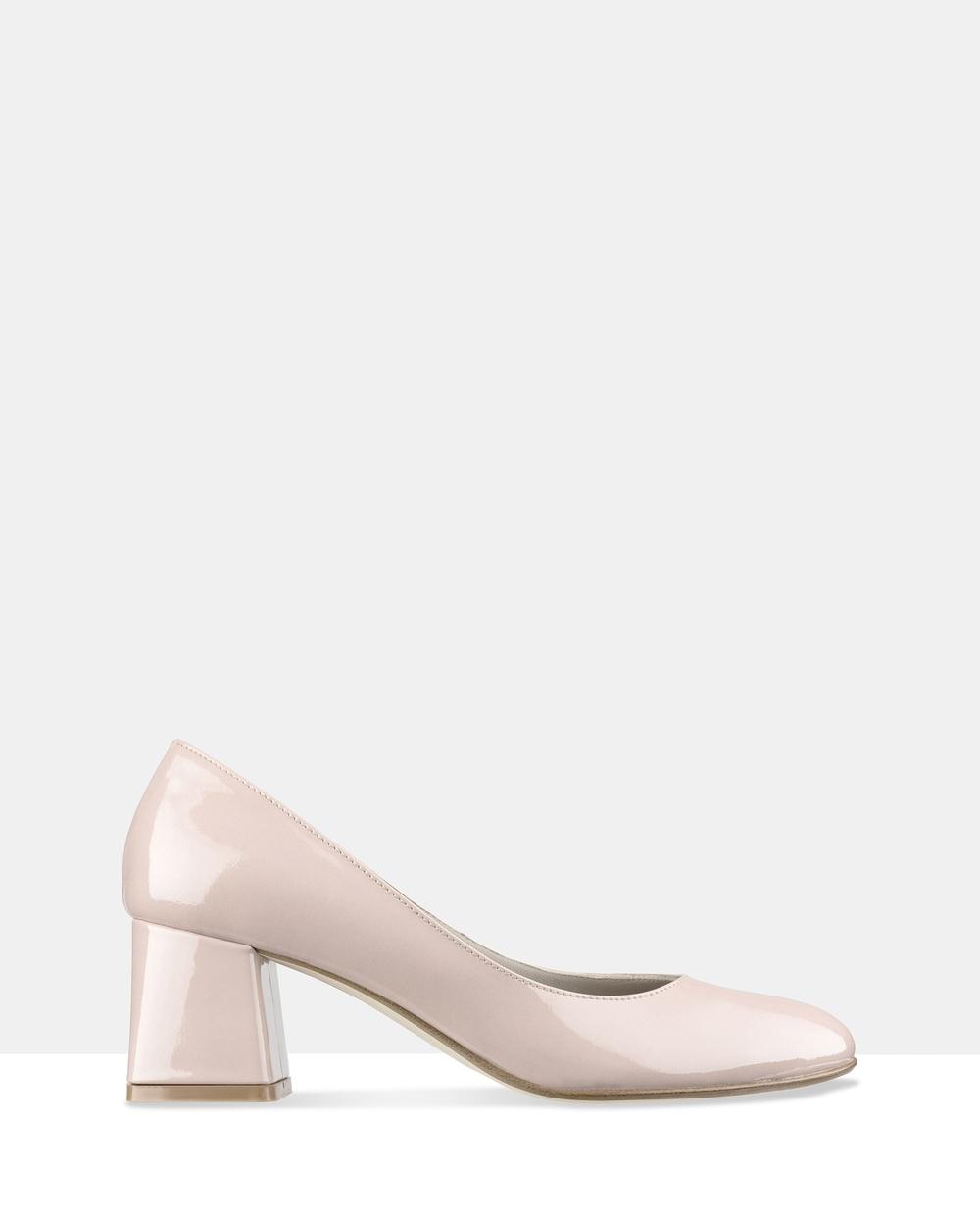 Habbot Barkly Block Heels Mid-low heels Pink Barkly Block Heels