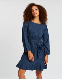 Gap - Tie-Belt Mini Denim Dress