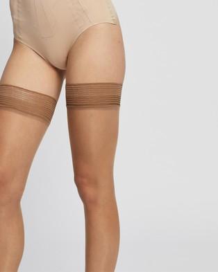 Bluebella Plain Leg Hold Ups   Plain Topped - Hold Up Stockings (Nude)