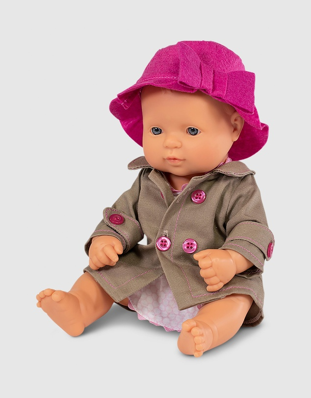 Miniland - Baby Girl Doll with Outfit
