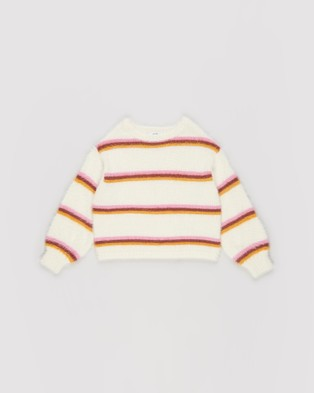 Eve Girl - Friday Knit Teens Jumpers & Cardigans (Stripe)