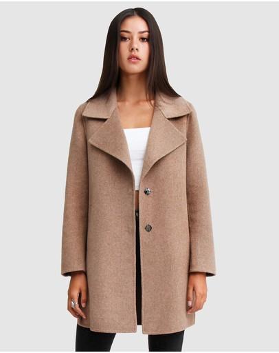 Belle & Bloom Ex-boyfriend Wool Blend Oversized Coat Oat